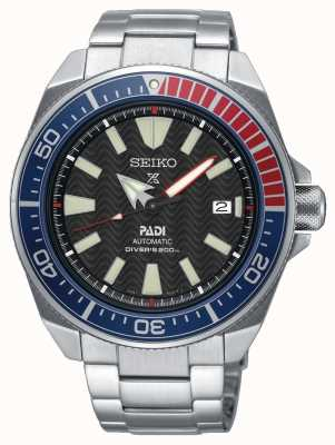 Seiko Mens aço inoxidável padi prospex relógio automático mostrador preto SRPB99K1