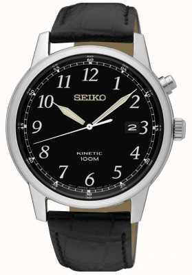 Seiko Mens ninca relógio analógico preto e mostrador preto SKA781P1