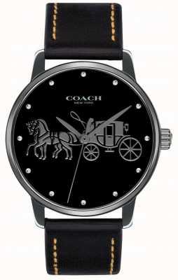 Coach Estojo preto grande para mulher e pulseira de couro preto 14502974
