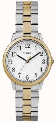 Timex Relógio de aço inoxidável de 30 mm com leitor fácil TW2R58800