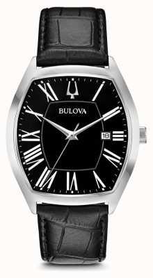Bulova Mens clássico couro embaixador 96B290