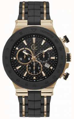 Gc Bracelete de silicone preto para homem Y35001G2