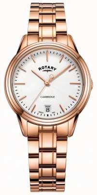 Rotary Womens cambridge watch pulseira de ouro rosa LB05262/06