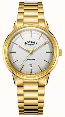 Rotary Mens avenger relógio barcelet tom de ouro GB05343/02