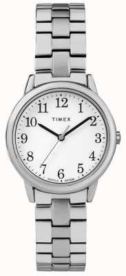 Timex Womens 31mm expedição banda de aço inoxidável mostrador branco TW2R58700