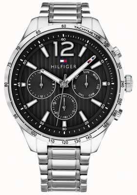 Tommy Hilfiger Mens gavin cronógrafo relógio pulseira de aço inoxidável 1791469
