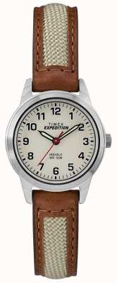 Timex Dial de couro mini campo tan natural TW4B11900