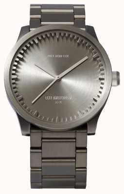 Leff Amsterdam Relógio de tubo s42 aço pulseira de aço LT72101