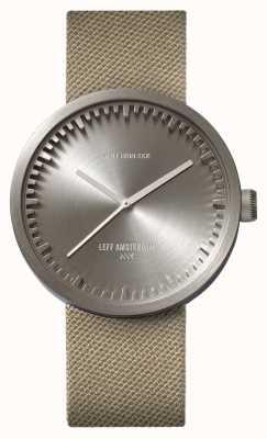 Leff Amsterdam Relógio de tubo d42 caixa de aço pulseira de cordura de areia LT72003