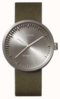 Leff Amsterdam Relógio de tubo d42 caixa de aço cordura cordura verde LT72004