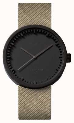 Leff Amsterdam Relógio tubo d42 preto caso areia cordura cinta LT72013