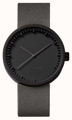 Leff Amsterdam Tubo relógio d42 preto caso cinza pulseira cordura LT72015