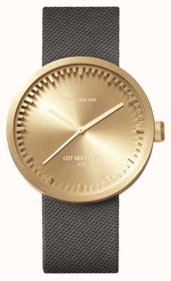 Leff Amsterdam Relógio de tubo d42 latão caso cordura pulseira cinza LT72025