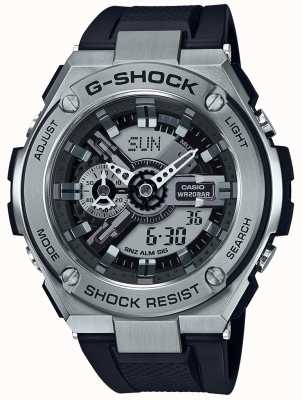 Casio G-pulseira de resina preta g-steel GST-410-1AER