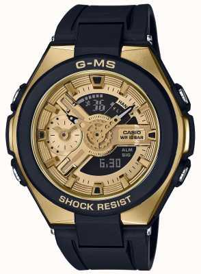 Casio Cronógrafo de alarme ouro glamoroso baby-g g-ms MSG-400G-1A2ER