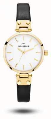 Mockberg Saga petite pulseira preta mostrador branco MO207