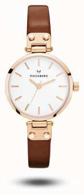 Mockberg Vilde petite brown strap mostrador branco MO209