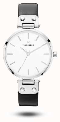 Mockberg Dial de pulseira de couro preto Astrid MO1002