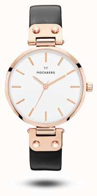 Mockberg Mostrador branco Sigrid pulseira preta MO1001