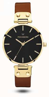 Mockberg Ilse preto, pulseira marrom mostrador preto MO114
