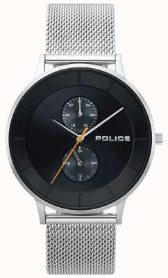 Police Berkeley malha de aço mens watch 15402JS/02MM