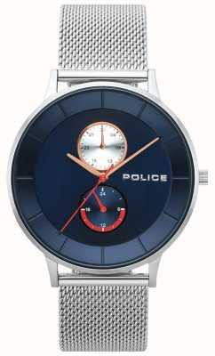 Police Mens berkeley relógio de malha de aço 15402JS/03MM