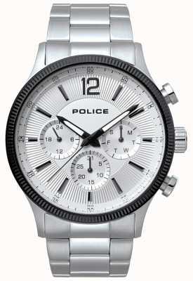 Police Mens aço inoxidável feroz e relógio preto 15302JSTB/01M