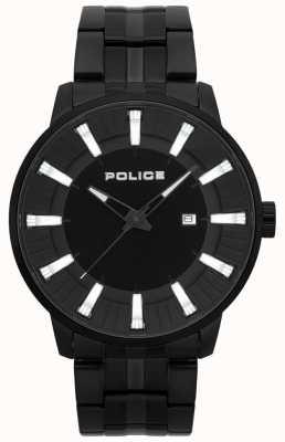 Police Mens flint preto pvd banhado relógio 15391JSB/02M