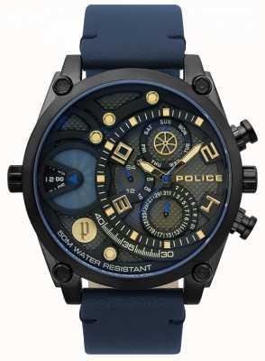 Police Mens pulseira de couro azul vigor vigor 15381JSB/61