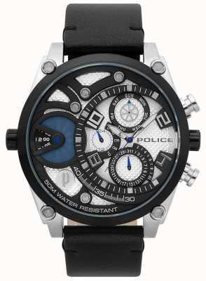 Police Mens pulseira de couro preto vigor vigor 15381JSTB/04