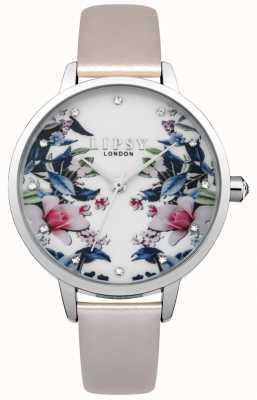 Lipsy Relógio de padrão floral para mulher LP574