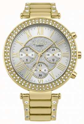 Lipsy Relógio de pulseira de cristal de ouro das mulheres LP561