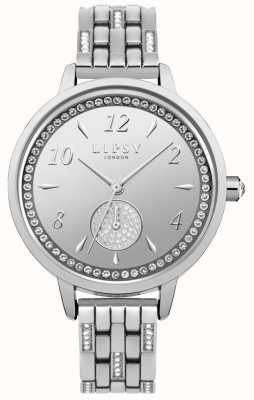 Lipsy Relógio de pulseira de prata para mulher LP564