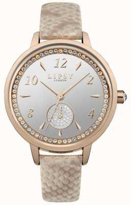 Lipsy rose gold strap e relógio de caso LP582