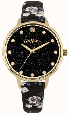 Cath Kidston Womens reluzente ilha monte relógio pulseira preta CKL056BG