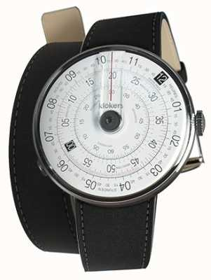 Klokers Klok 01 black watch mat tapete preto 380mm alça dupla KLOK-01-D2+KLINK-02-380C2
