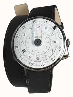 Klokers Klok 01 preto relógio cabeça mat preto 420mm dupla alça KLOK-01-D2+KLINK-02-420C2