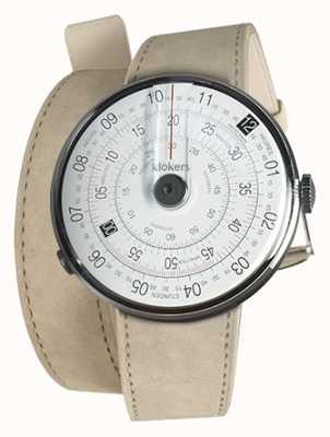 Klokers Klok 01 preto relógio cabeça cinza alcantara 420mm dupla alça KLOK-01-D2+KLINK-02-420C6
