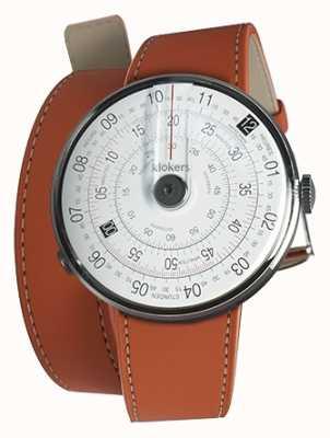 Klokers Klok 01 preto relógio cabeça laranja 420mm dupla alça KLOK-01-D2+KLINK-02-420C8