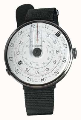 Klokers Klok 01 black watch head pulseira preta de tecido único KLOK-01-D2+KLINK-03-MC3