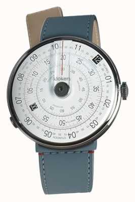 Klokers Klok 01 cabeça de relógio preto blue jean strait single strap KLOK-01-D2+KLINK-04-LC10