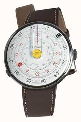 Klokers Klok 01 pulseira de relógio amarelo castanho chocolate KLOK-01-D1+KLINK-01-MC4