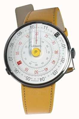Klokers Klok 01 amarelo relógio cabeça newport amarelo alça única KLOK-01-D1+KLINK-01-MC7.1