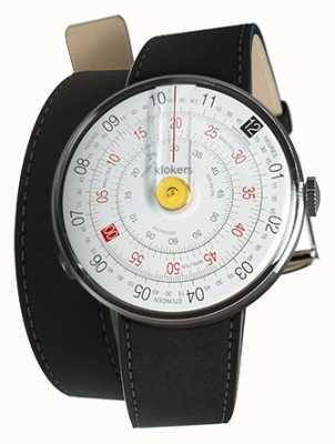 Klokers Klok 01 amarelo relógio cabeça mat preto cinta dupla KLOK-01-D1+KLINK-02-380C2