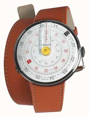 Klokers Klok 01 amarelo relógio cabeça laranja 420mm dupla alça KLOK-01-D1+KLINK-02-420C8