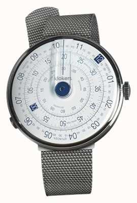 Klokers Klok 01 pulseira de aço azul KLOK-01-D4.1+KLINK-05-MC1