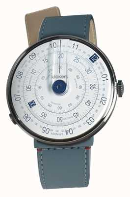 Klokers Klok 01 blue watch head blue jean estreito cinta única KLOK-01-D4.1+KLINK-04-LC10