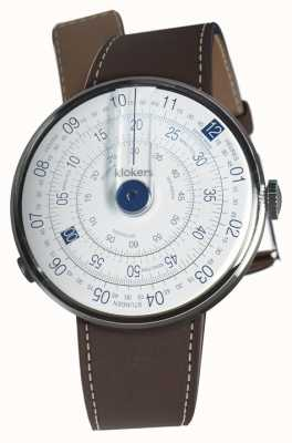 Klokers Klok 01 blue watch head alça marrom de chocolate único KLOK-01-D4.1+KLINK-01-MC4