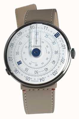 Klokers Klok 01 relógio azul cabeça grege strait único cinta KLOK-01-D4.1+KLINK-04-LC9