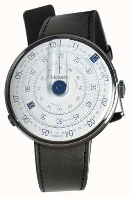 Klokers Klok 01 blue watch head cinta de cetim preto único KLOK-01-D4.1+KLINK-01-MC1